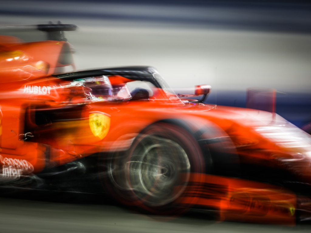 A Ferrari in action