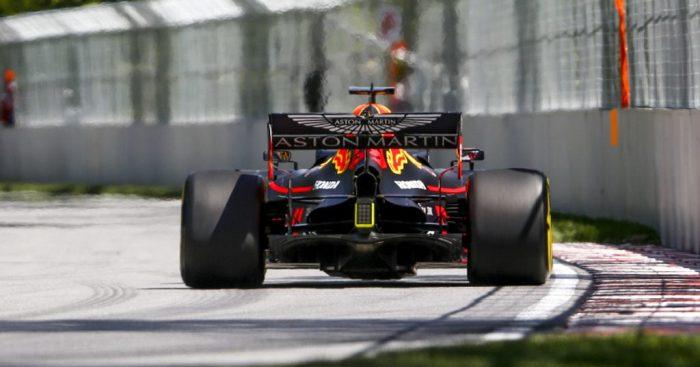Max Verstappen rear of the Red Bull
