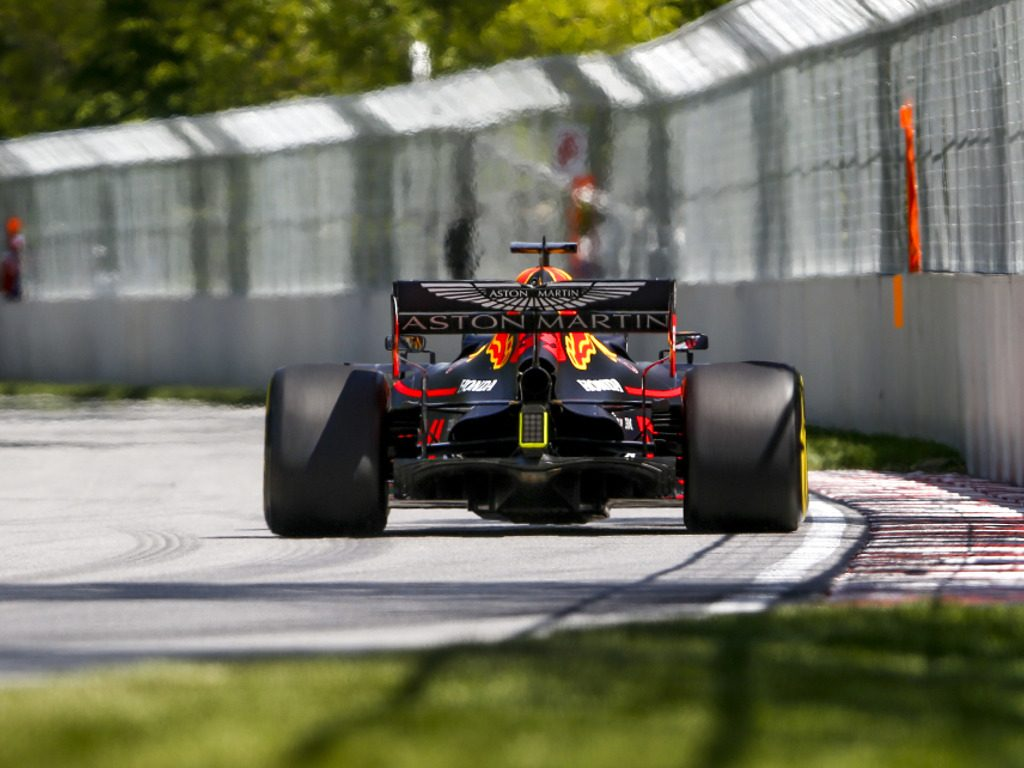 Max Verstappen rear of the Red Bull