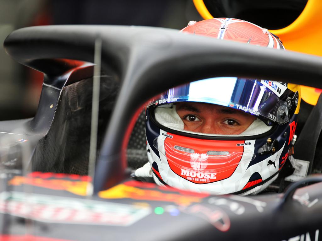 Alex Albon in his Red Bull