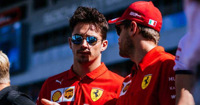 "Charles Leclerc says he's ""very lucky"" to have Sebastian Vettel as his Ferrari team-mate."