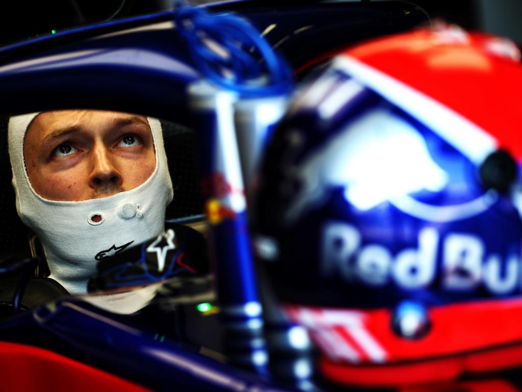 Daniil Kvyat in his car