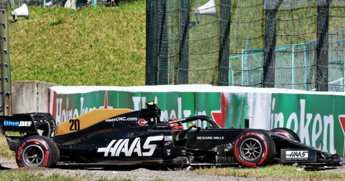 """Kevin Magnussen admits that his qualifying crash in Japan was """"quite embarrassing""""."""