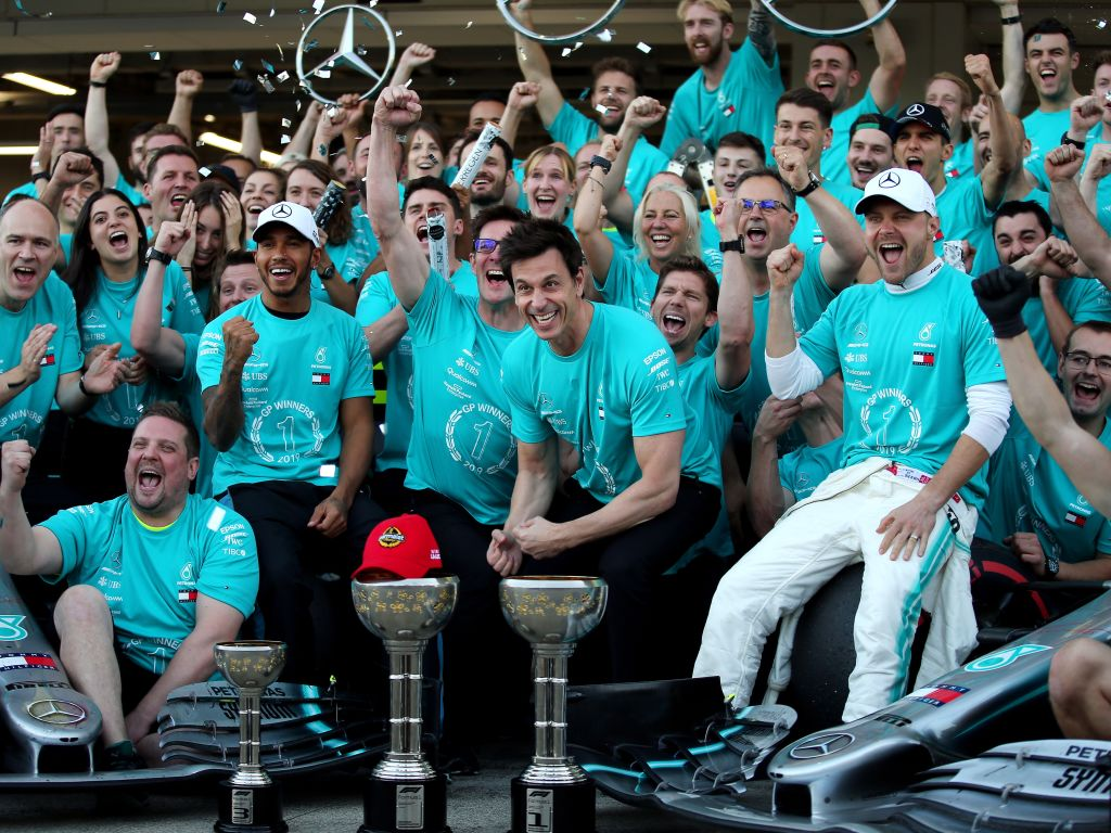 Record sixth title double for Mercedes.