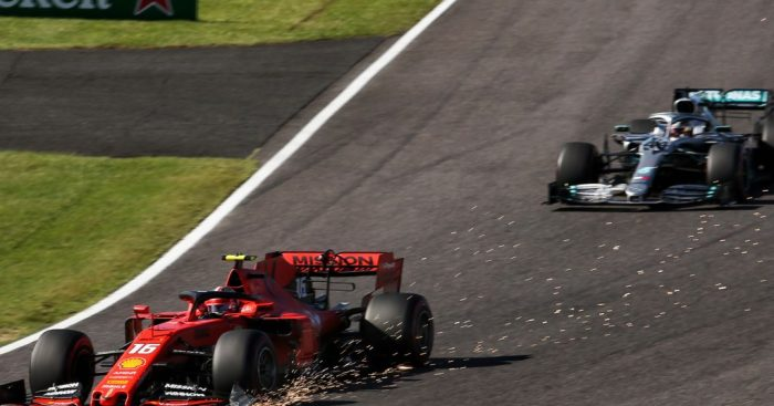 Charles Leclerc gets two time penalties at Suzuka; Ferrari fined.