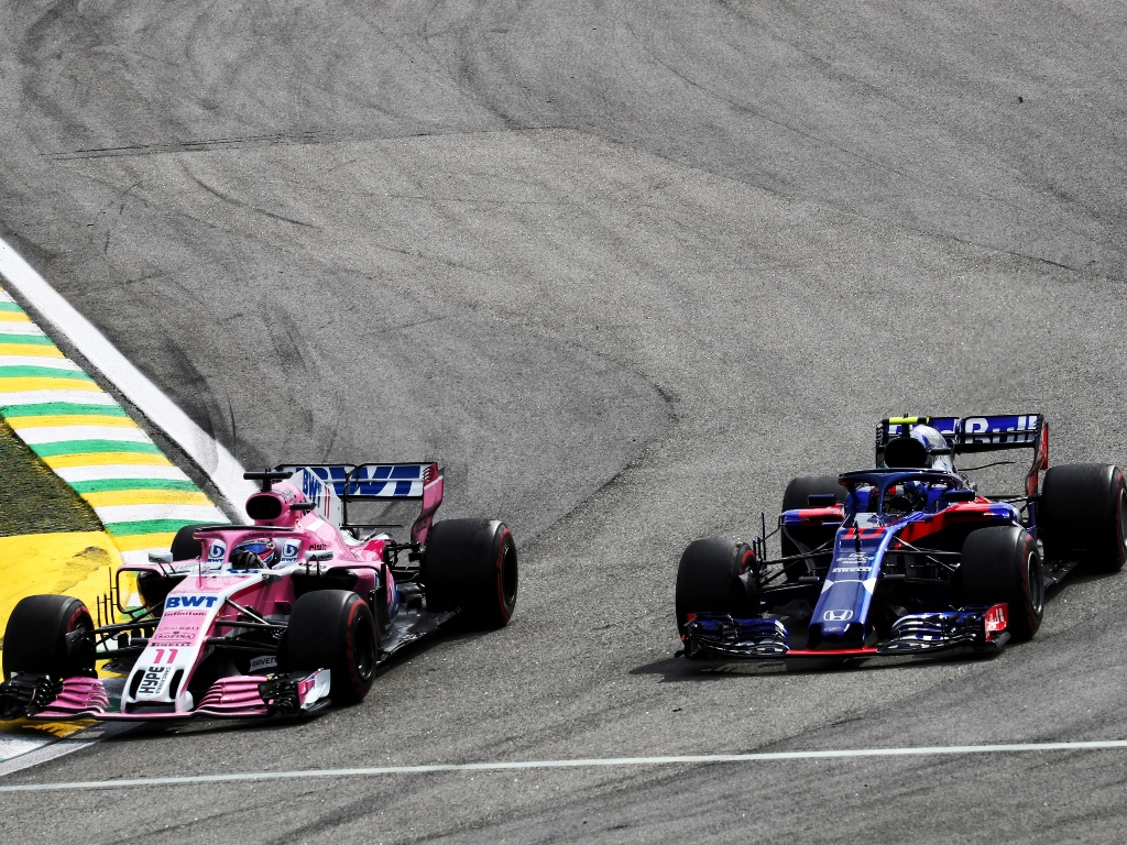 """Perez hits out at """"very stupid"""" driving by Gasly"""