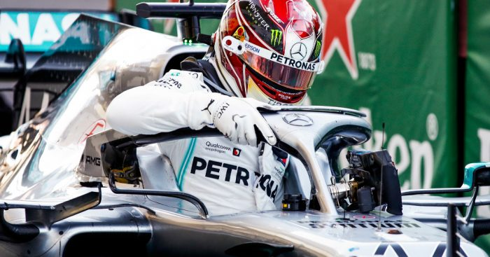 Lewis Hamilton experimenting with Mercedes car in Abu Dhabi
