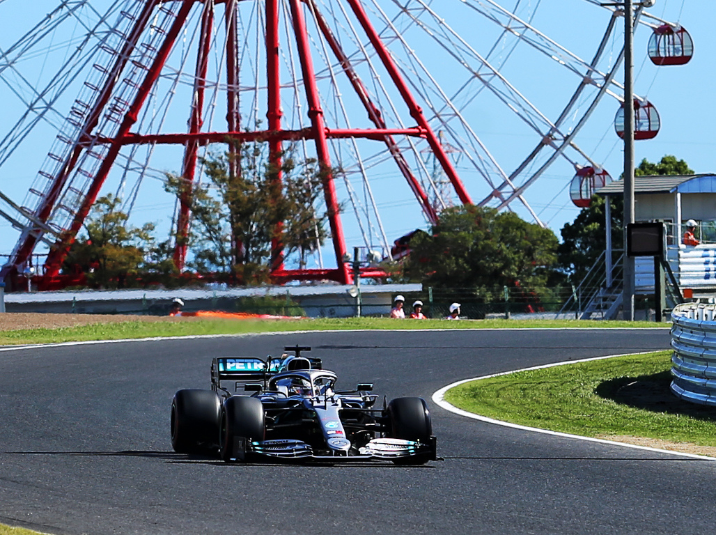 Lewis Hamilton puts in the laps at Suzuka