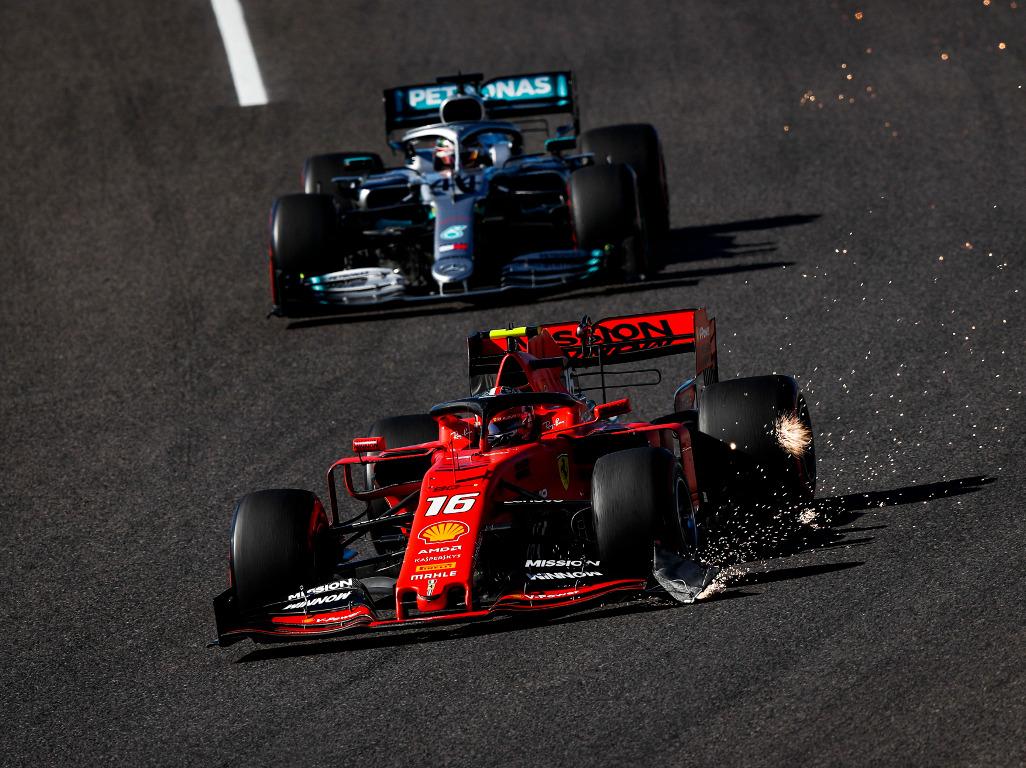 Charles-Leclerc-broken-wing-Lewis-Hamilton-PA