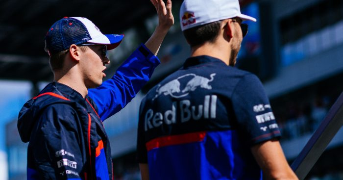 """Daniil Kvyat sees himself as a """"living example"""" to Pierre Gasly that a driver can recover at Red Bull."""