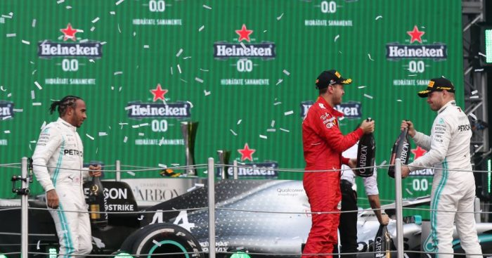 Sebastian Vettel thinks Mercedes had the speed, and luck at the Mexican GP.