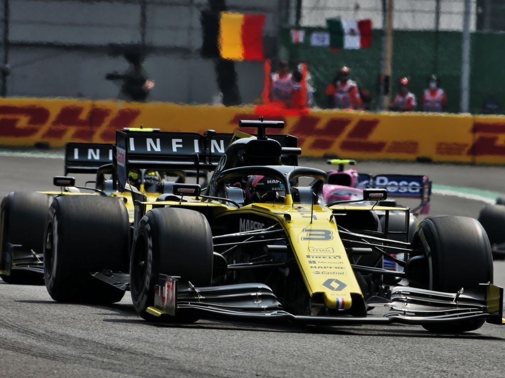 Sergio Perez reminded Daniel Ricciardo that he doesn't have a Red Bull anymore after his failed late-braking overtake in Mexico.