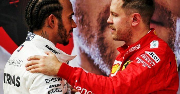 Sebastian Vettel didn't see Lewis Hamilton