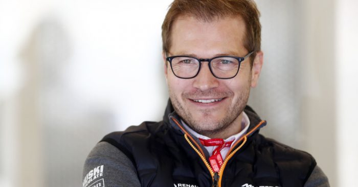 McLaren team boss Andreas Seidl in good spirits
