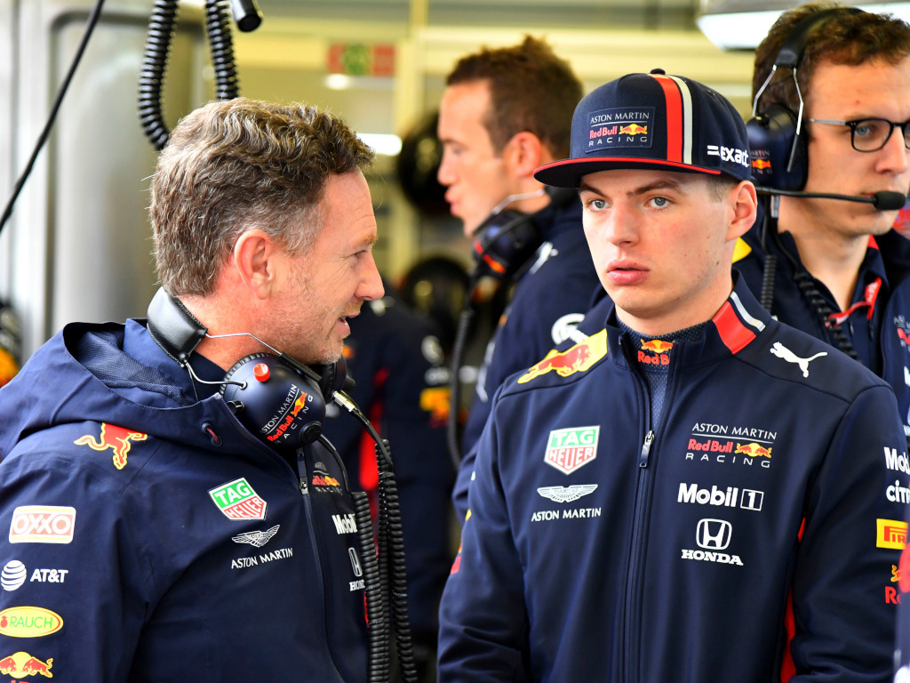 Christian Horner and Max Verstappen in conversation