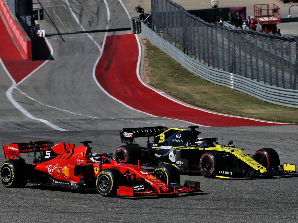 Sebastian Vettel Daniel Ricciardo PA