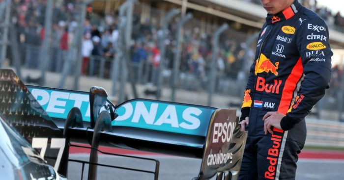 Max Verstappen fancied taking P2 from Lewis Hamilton in Austin before the yellow flags.