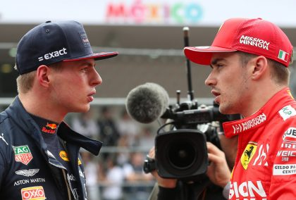 """Gerhard Berger believes Max Verstappen and Charles Leclerc are matched for ability, but are """"fundamentally different""""."""