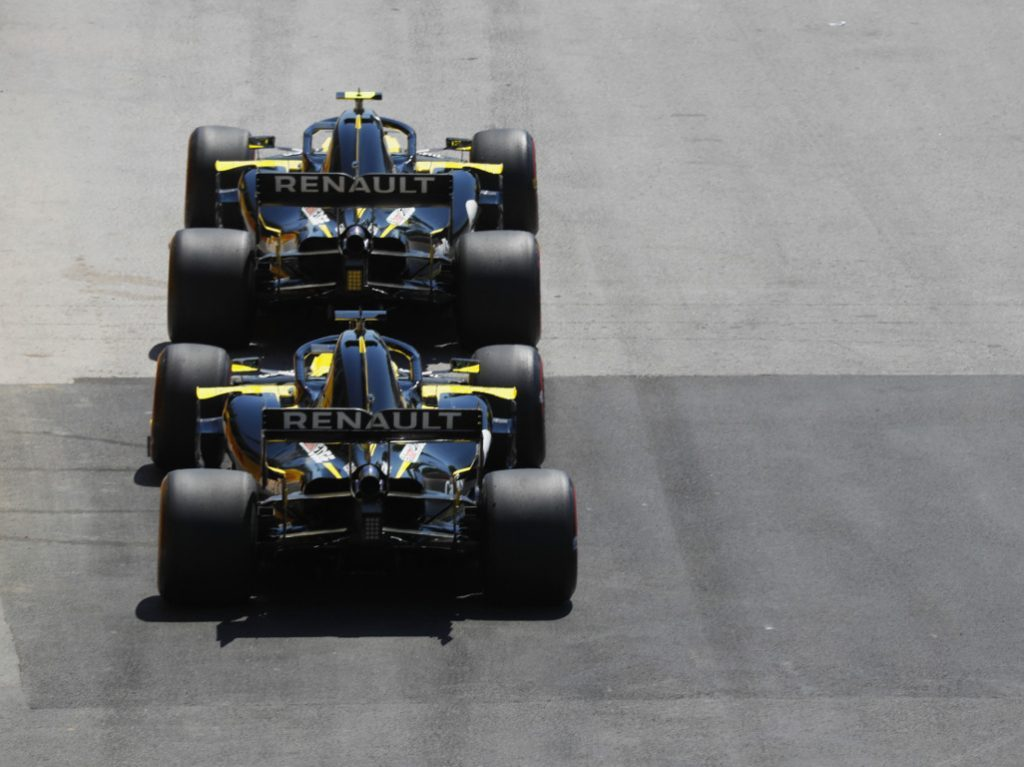 Renault cars lining up