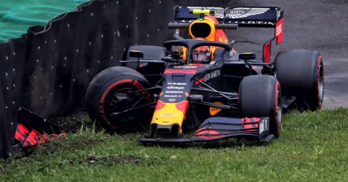 Alex Albon's FP1 crash in Brazil was Red Bull's fault says Christian Horner.