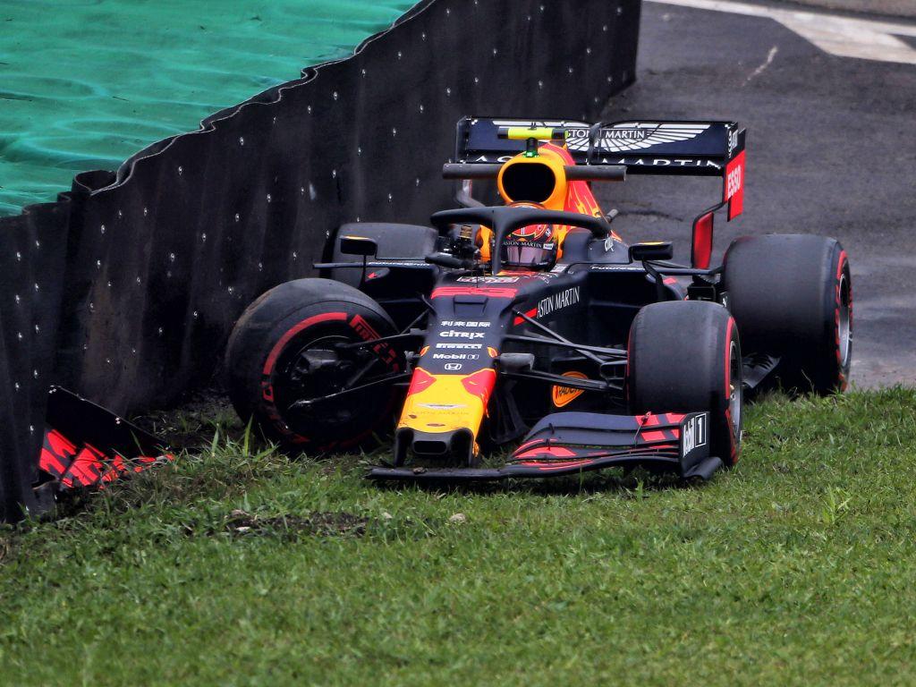 Alex Albon's FP1 crash in Brazil was Red Bull's fault says Christian Horner.