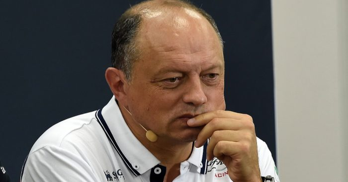 Alfa Romeo team principal Frederic Vasseur