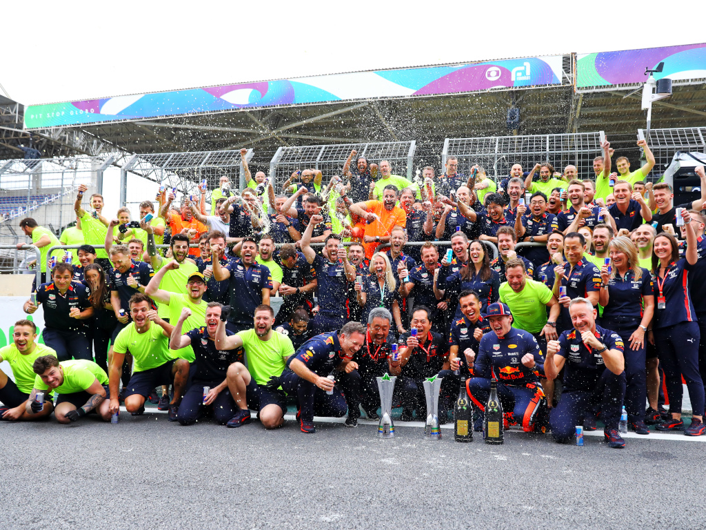 Red Bull Brazil celebrations