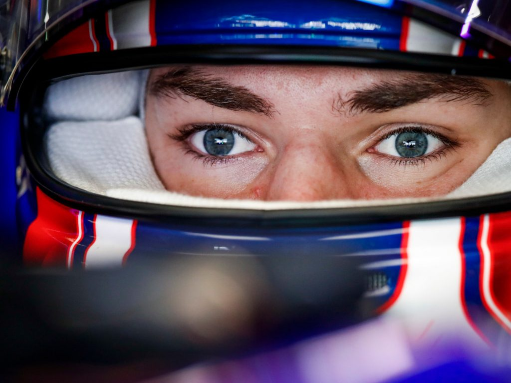 Pierre Gasly in the cockpit