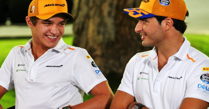 Carlos-Sainz-and-Lando-Norris-smiling-PA
