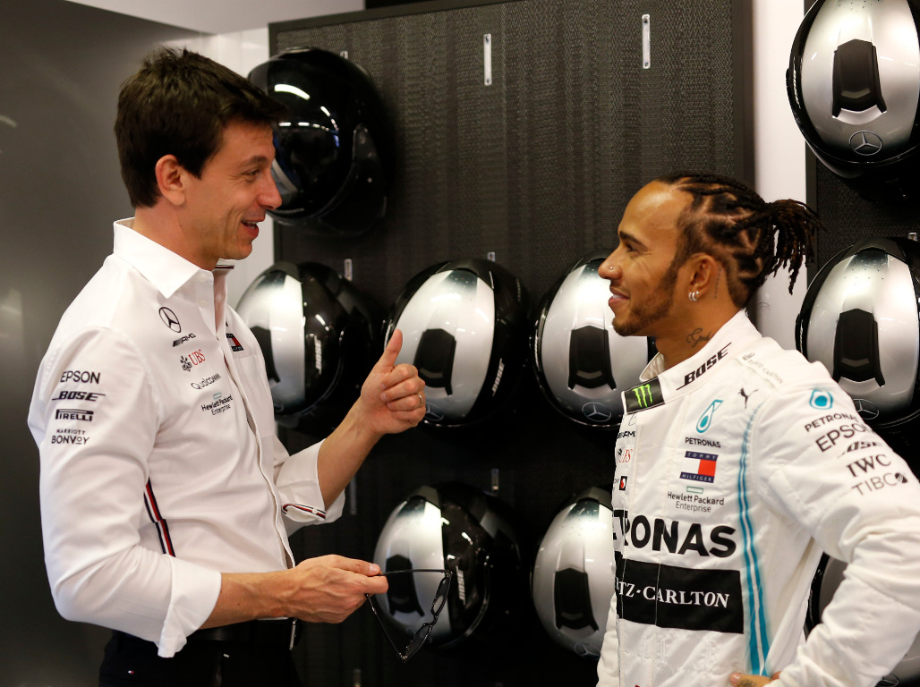 """Toto Wolff says he and Lewis Hamilton """"don't like"""" the new contract talks because they are friends."""
