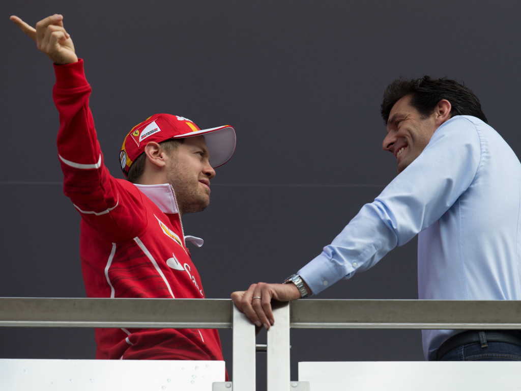 Mark Webber has told Sebastian Vettel he doesn't look his age right now.
