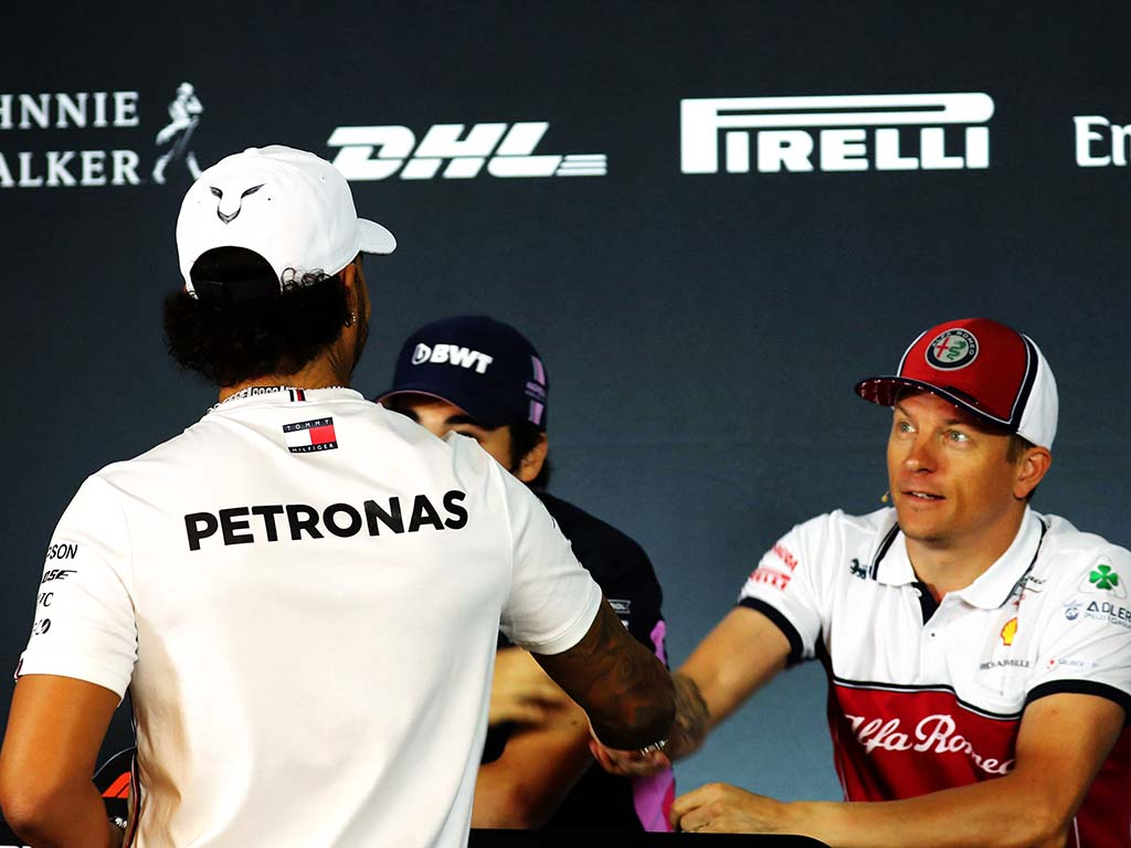 Kimi Raikkonen Lewis Hamilton