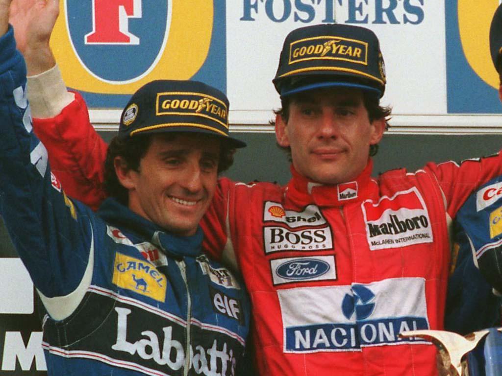 Alain Prost Ayrton Senna