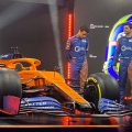 MCL35 takes to the track for the first time.