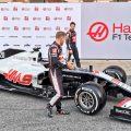 Haas officially unveil the VF-20 in the Barcelona pits