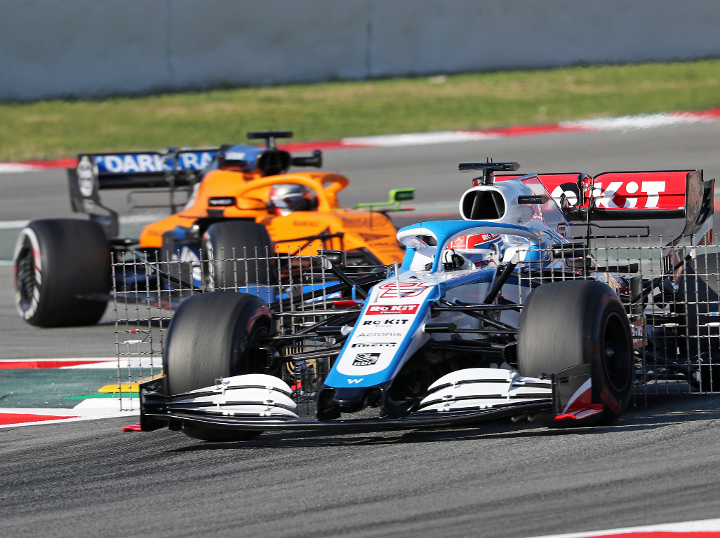 George-Russell-aero-Williams-leads-McLaren-test