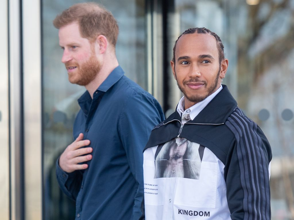 Lewis Hamilton and Prince Harry open new Silverstone museum.