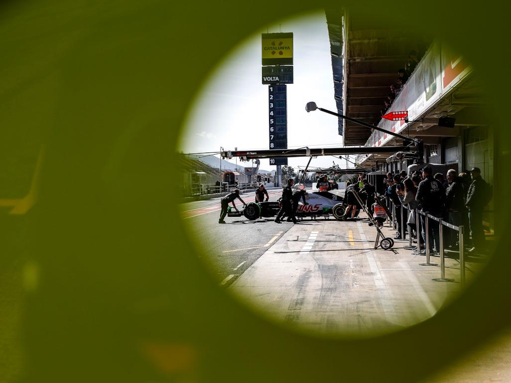 Haas F1 testing 2020