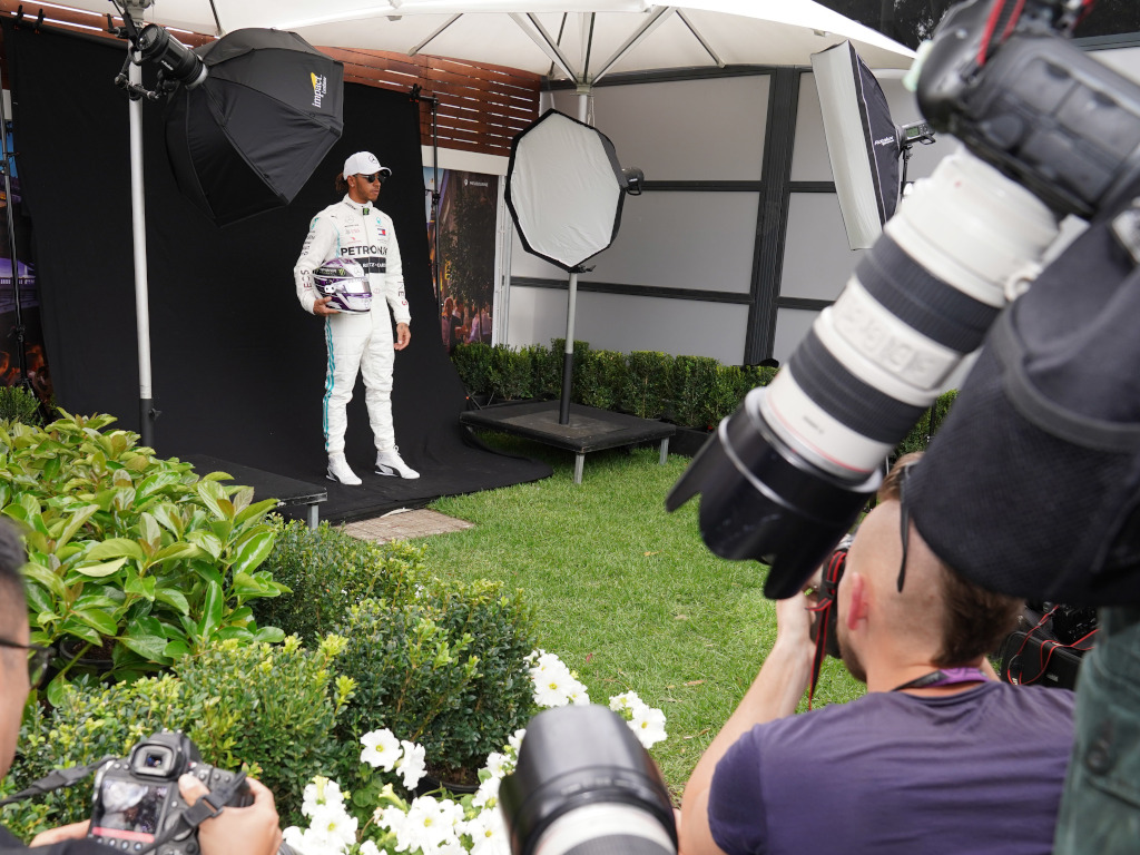 """Lewis Hamilton's """"Never Give Up"""" motto in the fight against COVID-19."""