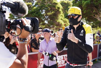 Esteban Ocon explains why he wore a mask in Australia.
