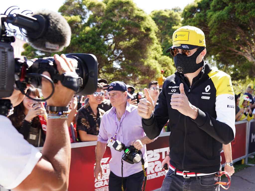 Esteban Ocon explains why he wore a mask in Australia.