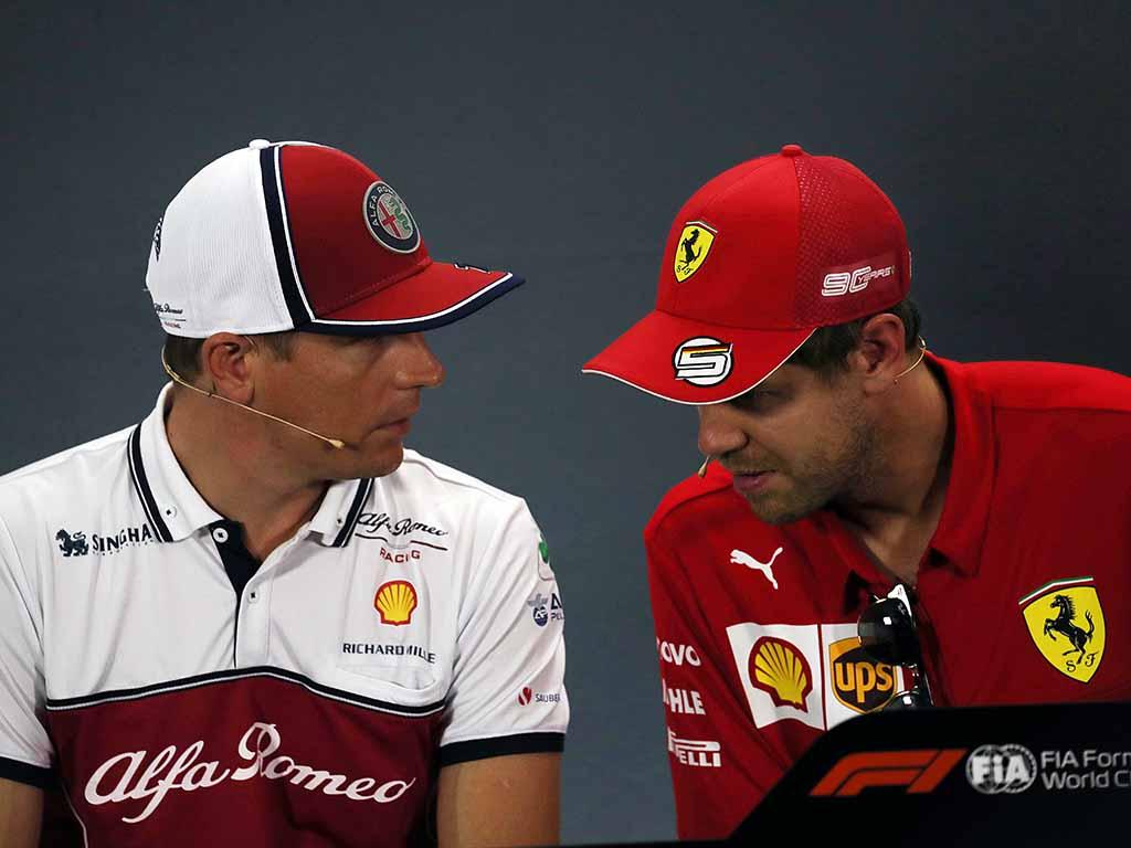 Kimi Raikkonen Sebastian Vettel PA
