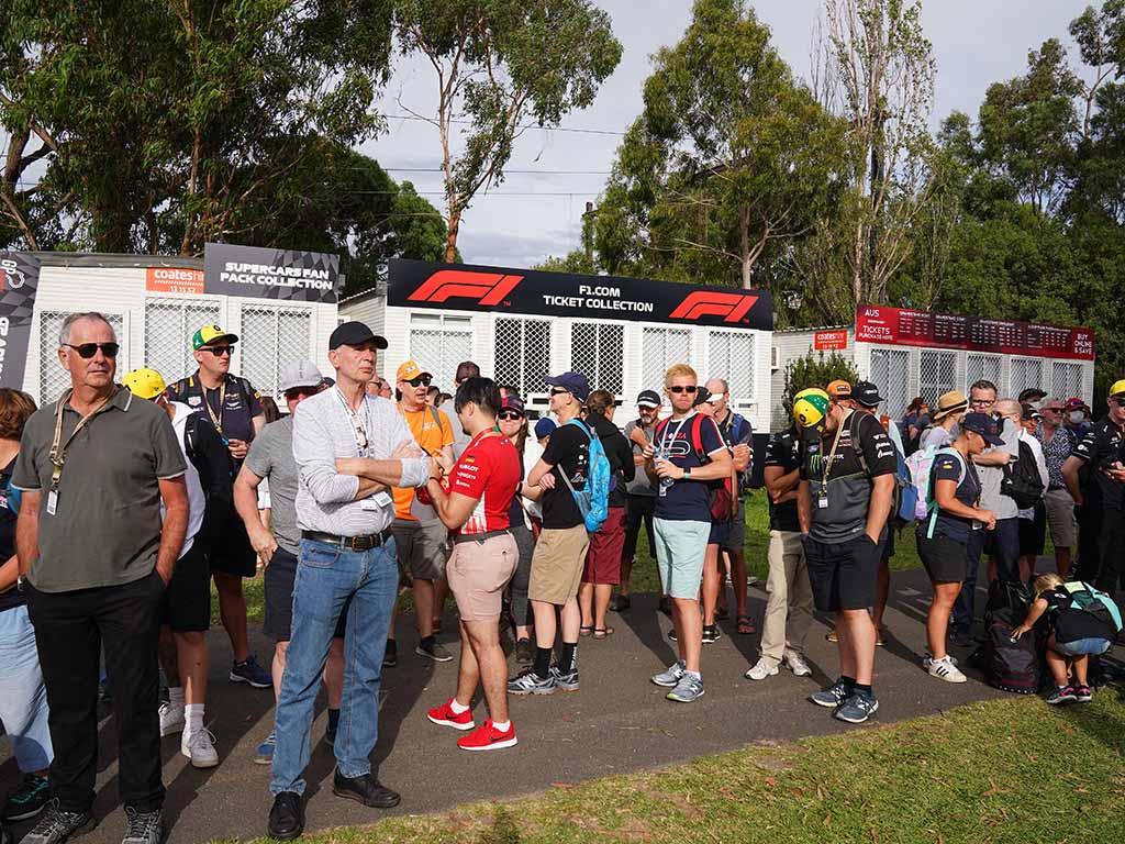 Australian GP fans F1 PA