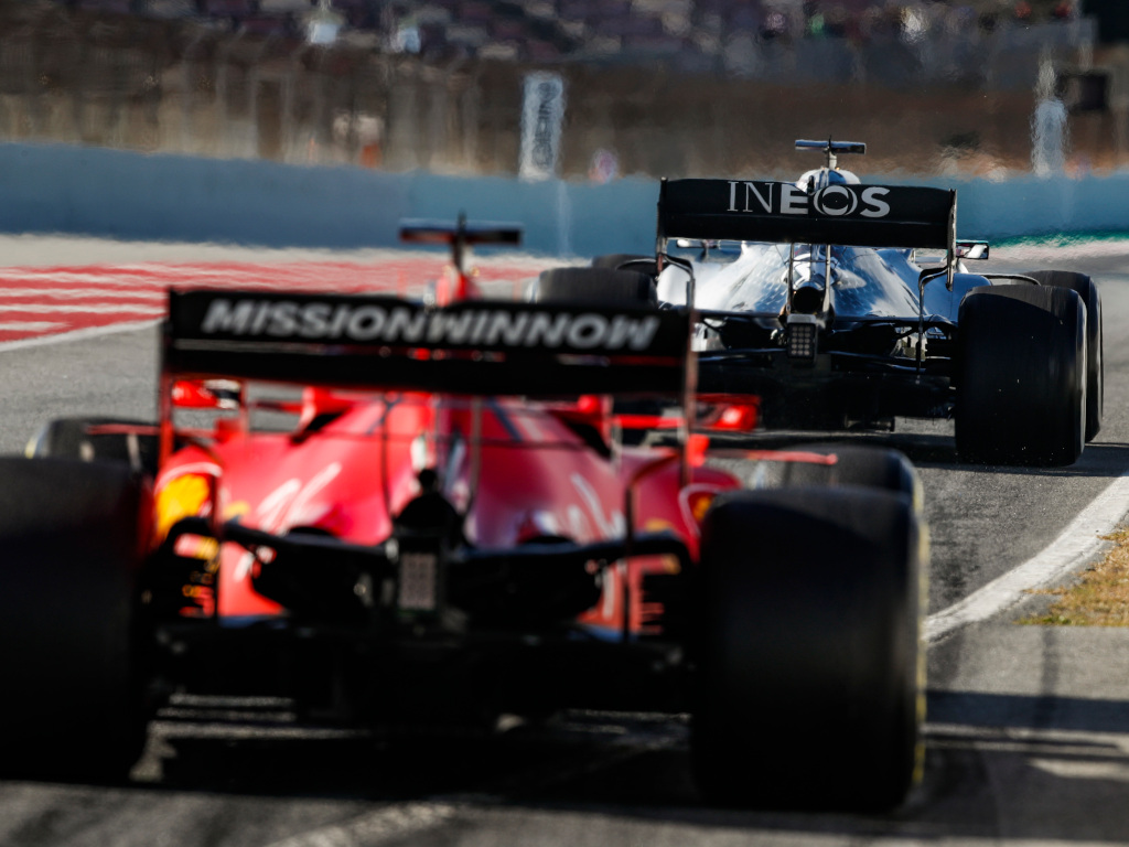 Ferrari and Mercedes 2020