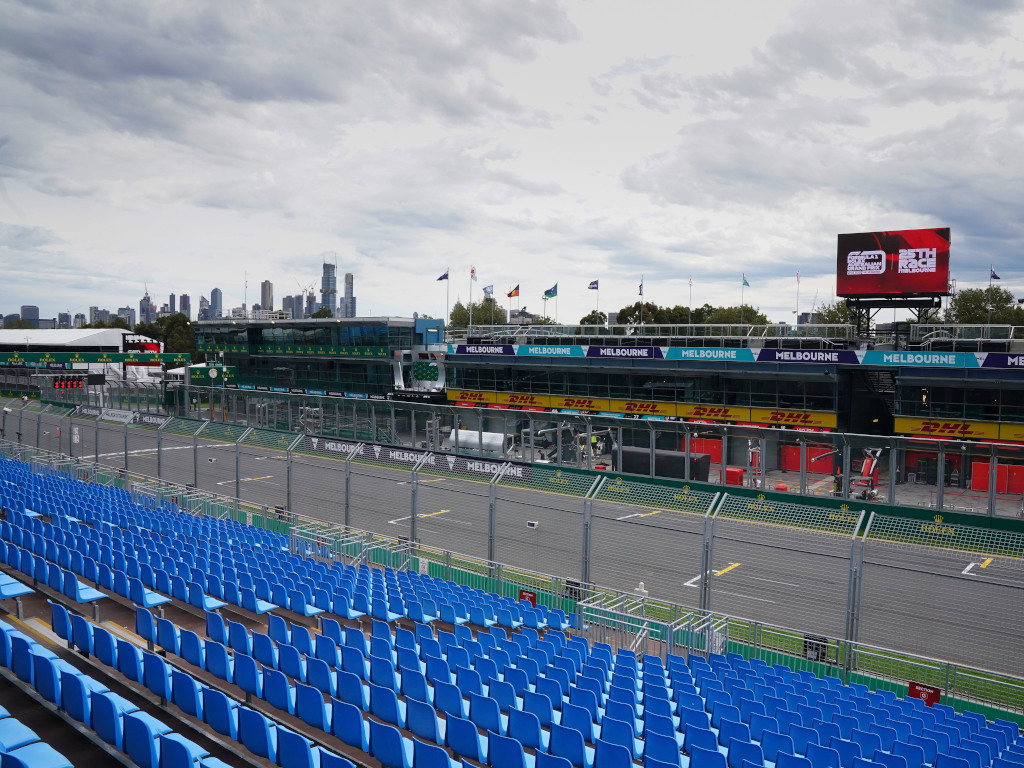Australian GP empty stands Melbourne PA