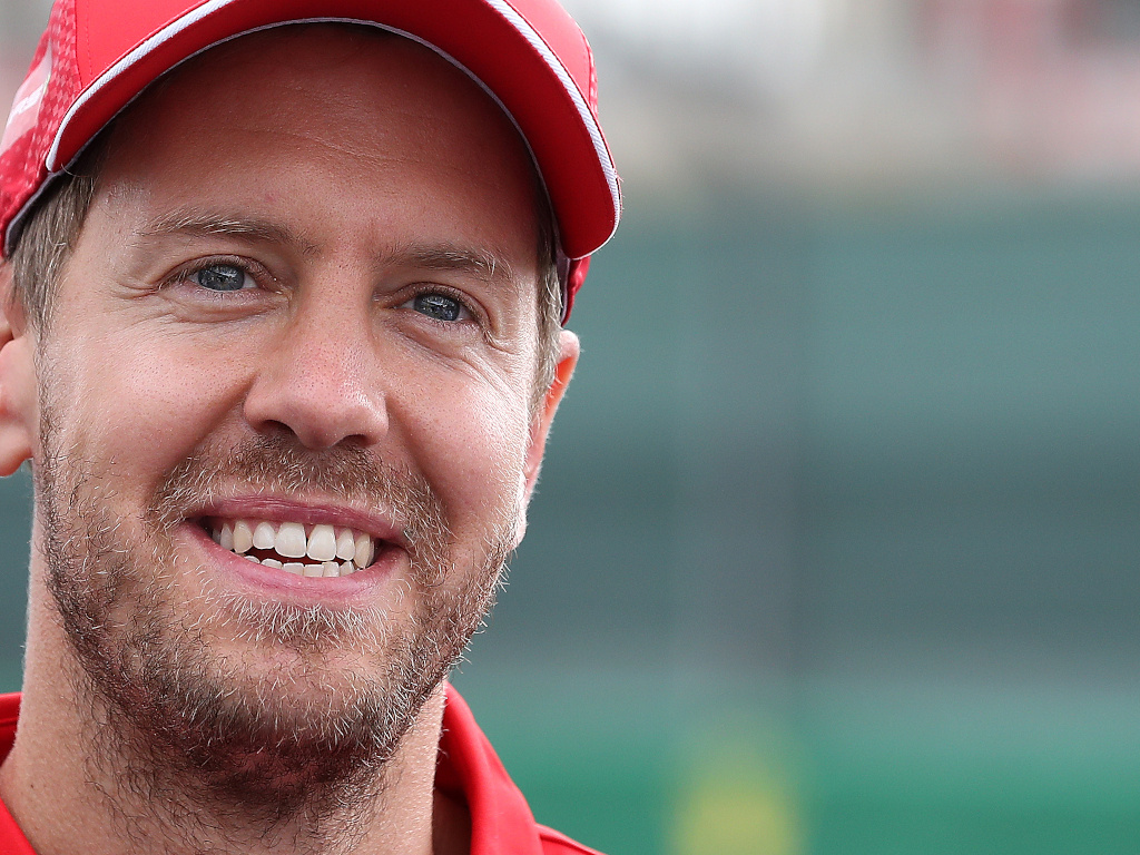 Sebastian Vettel smiling 2020 pa