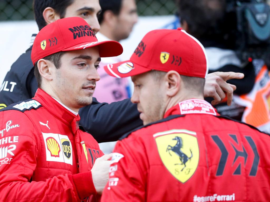 Sebastian Vettel and Charles Leclerc 2020