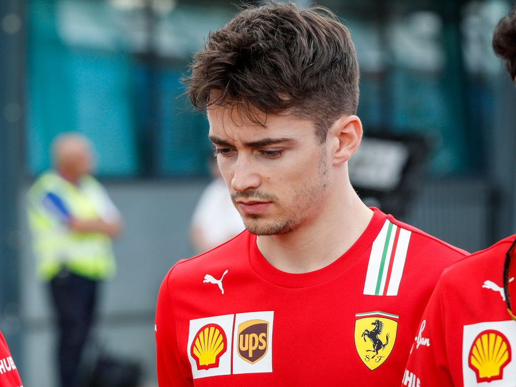 Charles Leclerc on Twitch whilst girlfriend locked out.