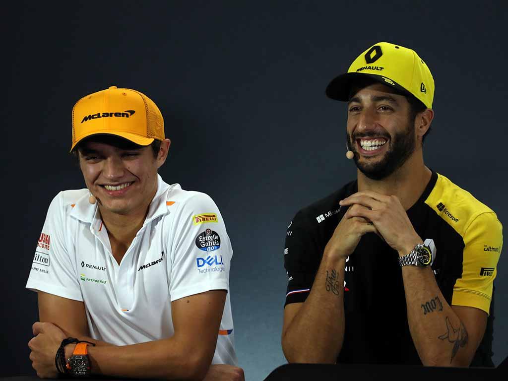 Daniel Ricciardo will be the perfect benchmark for Lando Norris says Zak Brown.