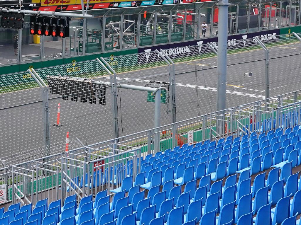 Melbourne Australian GP empty stands